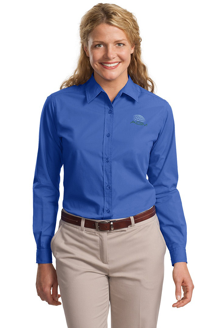 PORT AUTHORITY LADIES LONG SLEEVE EASY CARE, SOIL RESISTANT SHIRT