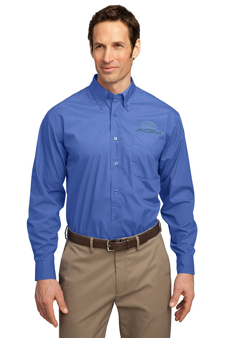 PORT AUTHORITY LONG SLEEVE EASY CARE, SOIL RESISTANT SHIRT